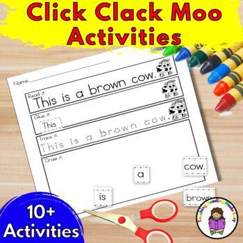Kindergarten Activities for Click Clack Moo Cows that Type