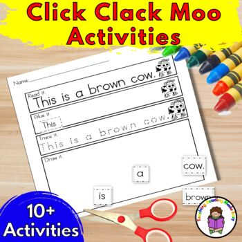 Click Clack Moo Cows That Type Activities And Worksheets For