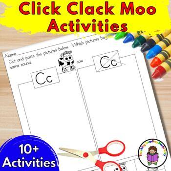 Click Clack Moo Cows that Type Activities/ Worksheets for Kindergarten