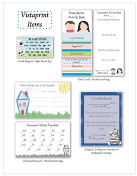 Kindergarten Activity Bags (Homework Bags)