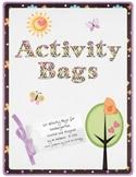 Kindergarten Activity Bags (Homework Bags)