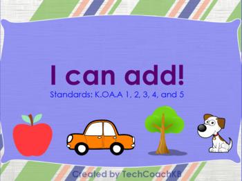 Kindergarten Addition Center/Whole Group Activity