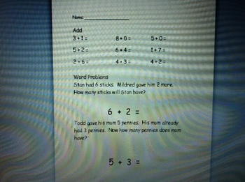 Kindergarten Addition Differientiated Worksheets