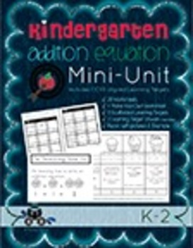 Kindergarten Addition Equation Mini Unit