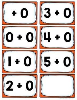 Kindergarten Addition Flash Cards (0-5)