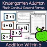Kindergarten Addition Flash Cards-Math Fact Fluency Within 5-Common Core Aligned