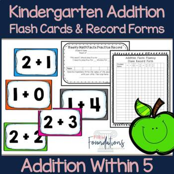 Kindergarten Addition Flash Cards (0-5)