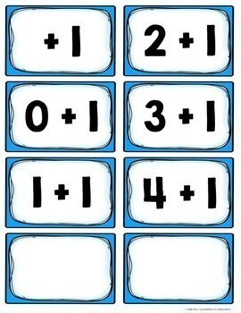 Kindergarten Addition Flash Cards and Timed Tests Resource Pack