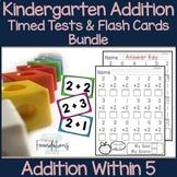 Kindergarten Addition Flash Cards and Timed Tests Bundle