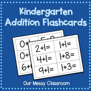 Kindergarten Addition Flashcards
