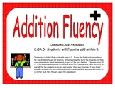 Kindergarten Addition Fluency