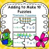 Kindergarten Addition Game to 10 Adding to Make 10 Missing Addend Puzzles K.OA.4