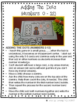 Kindergarten Addition Math Centers  {Ladybug Learning Projects}