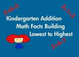 Kindergarten Addition Math Facts Common Core Based