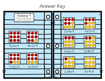 Interactive Kindergarten Math Journal: Addition