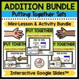 Kindergarten Addition Mini-Lessons on Google Slides for Pu