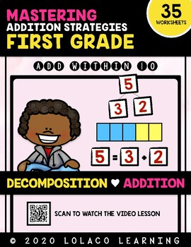 1st Grade Addition: (NO PREP) Decomposing Numbers