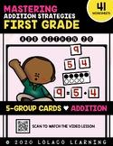 1st Grade Addition: (NO PREP) Five Groups