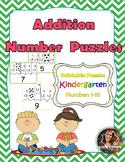Kindergarten Addition Printable Puzzles!