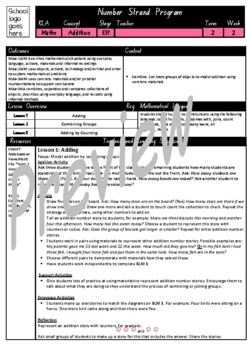 Kindergarten Addition Smart Notebook and Unit of Work Bundle 1