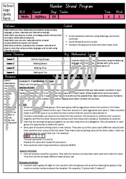 Kindergarten Addition Smart Notebook and Unit of Work Bundle 3