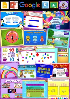 Kindergarten Addition Smart Notebook and Unit of Work Bundle 3