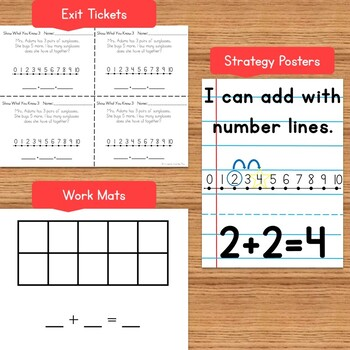 Kindergarten Addition Strategy Interactive PowerPoint Lessons