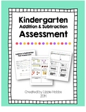 Kindergarten Addition & Subtraction Assessment