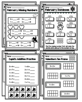"Kindergarten Addition & Subtraction ""Mastery Pack"" for February"