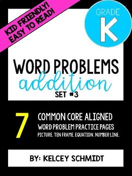 Kindergarten Addition Word Problems Set #3
