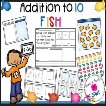 Kindergarten Addition Word Problems within 10- Fish