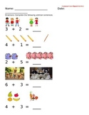 Kindergarten Addition Worksheet Common Core Aligned