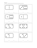 Kindergarten Addition Worksheets- Domino Addition, Pic Addition, Word Problems