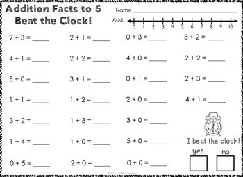Distance Learning Kindergarten Addition Worksheets
