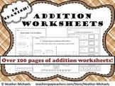 Kindergarten Addition Worksheets in Spanish / Hojas de sum