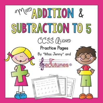 Kindergarten Addition and Subtraction: 35 Practice Pages