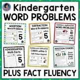 Kindergarten Math - Addition, Subtraction and Word Problems Within Five Bundle