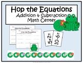 Spring Addition and Subtraction Kindergarten Math Center -