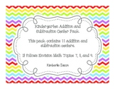 Kindergarten Addition and Subtraction Math Centers (Envisi