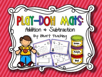 Addition and Subtraction Play-Doh Mats