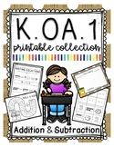 Kindergarten Addition and Subtraction Printable Collection KOA1