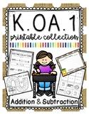 Kindergarten Addition and Subtraction Printable Collection KOA1