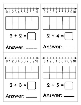Kindergarten Addition and Subtraction Problem Cards