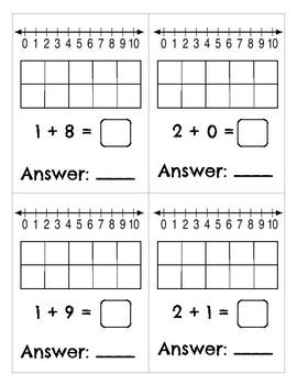 Kindergarten Addition and Subtraction Problem Cards