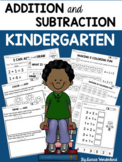 Kindergarten Addition and Subtraction Worksheets (Distance Learning)