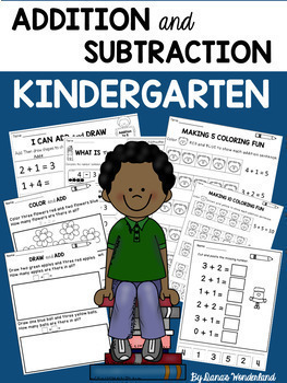 Kindergarten Addition and Subtraction Worksheets Pack
