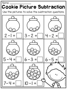 kindergarten addition and subtraction worksheets up to 10 by my teaching pal. Black Bedroom Furniture Sets. Home Design Ideas