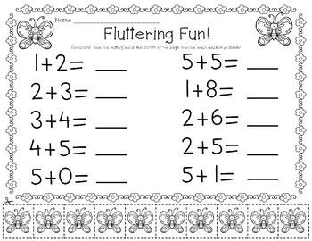 Kindergarten Spring Addition to 10