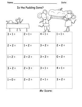 Addition Fluency Add Sums to 5 Fluency Drills Practice PACK 31 pages!