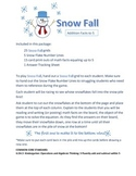 Kindergarten Addition to Five Snow Fall Game CCS.K.OA.5